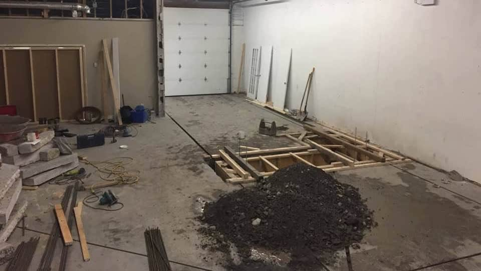 International dyno authority under construction. Dyno pit dug